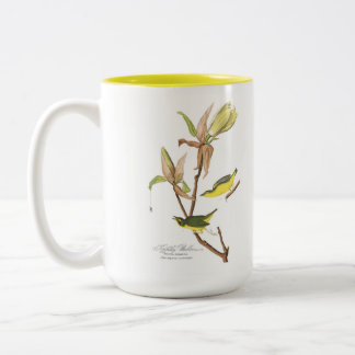 Audubon Bird Mug, Kentucky Warbler, 15 oz. Two-Tone Coffee Mug