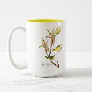 Audubon Bird Mug, Kentucky Warbler, 15 oz. Two-Tone Coffee Mug