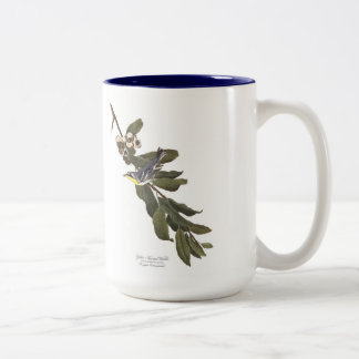 Audubon Bird Mug, Yellow-Throated Warbler, 15 oz. Two-Tone Coffee Mug
