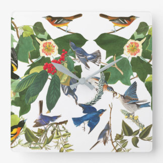 Audubon Birds Flower Wildlife Wall Clock