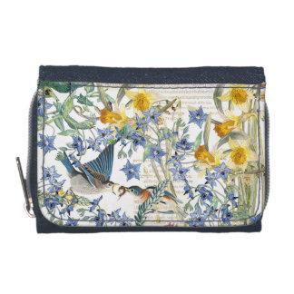Audubon Bluebird Birds Narcissus Floral Wallet