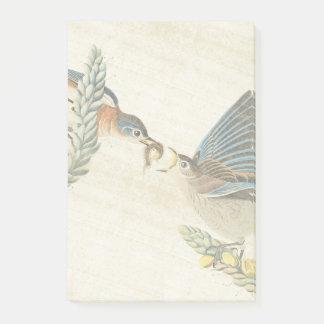 Audubon Bluebird Birds Wildlife Post It Notes