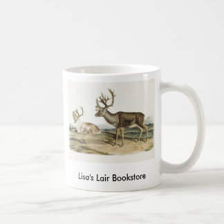 Audubon - Caribou - Reindeer Bookstore Promo Basic White Mug