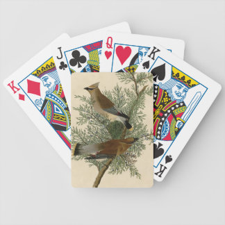 Audubon Cedar Waxwing Bird Bicycle Playing Cards