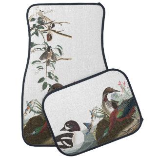 Audubon Collage Loons Bluebird Bird Car Floor Mats