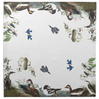 Audubon Collage of Birds Wildlife Cloth Napkins
