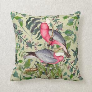 Audubon Colourful Australian Birds Square Pillow