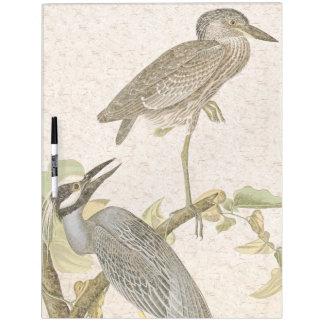 Audubon Heron Bird Wildlife Animal Dry Erase Board
