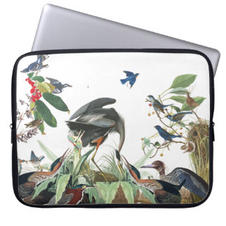 Audubon Heron Birds Collage Wildlife Laptop Sleeve