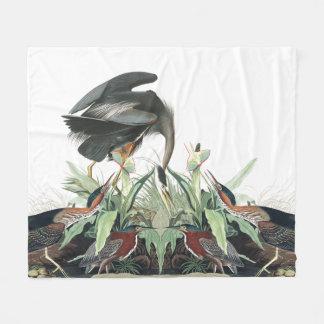 Audubon Heron Birds Wildlife Animal Fleece Blanket