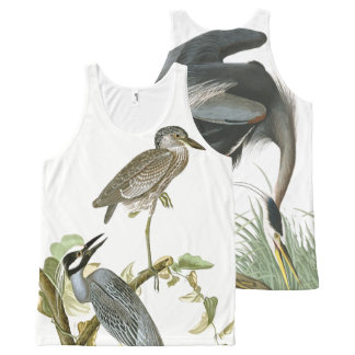 Audubon Heron Birds Wildlife Animals Tank Top