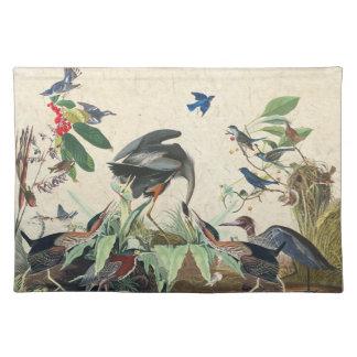 Audubon Heron Bluebird Birds Collage Placemat