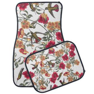 Audubon Hummingbird Birds Flowers Floor Mats