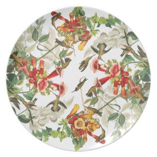 Audubon Hummingbird Birds Wildlife Flowers Plate
