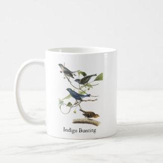 Audubon Indigo Bunting Print Basic White Mug