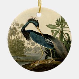 Audubon Louisiana Heron Christmas Ornament