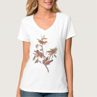 Audubon Painted Bunting Birds is Wild Plum Tree Shirt