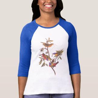 Audubon Painted Bunting Birds is Wild Plum Tree T-shirt