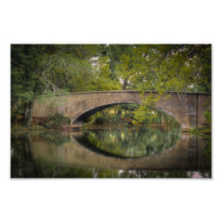 Audubon Park Bridge Reflections Photo Print