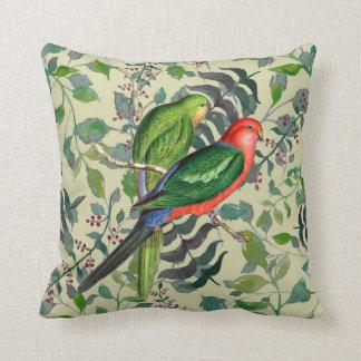 Audubon Parrots Tropical Birds Square Pillow