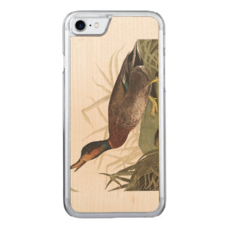 Audubon Plate 338 Bemaculated Duck Carved iPhone 8/7 Case