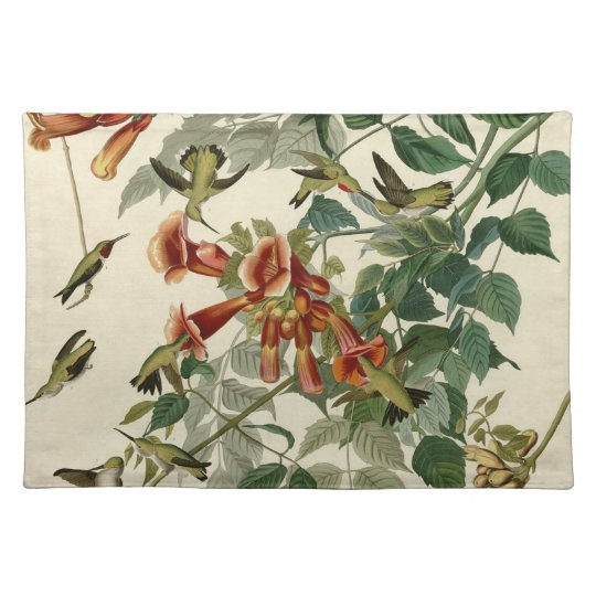 Audubon Ruby Throated Hummingbirds Placemat