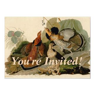 Audubon Ruffed Grouse 11 Cm X 16 Cm Invitation Card