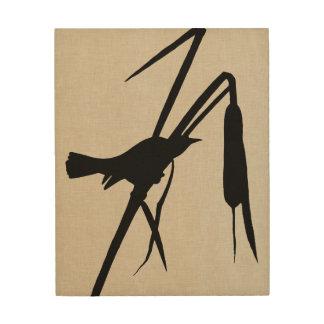 Audubon Silhouette II Wood Print