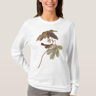 Audubon Swamp Sparrow Bird on Wild Mandrake Shirts
