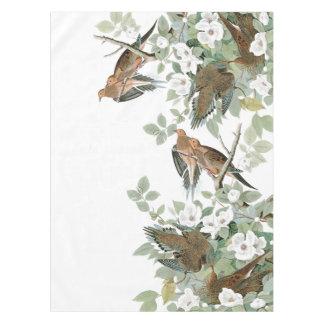 Audubon Turtle Dove Birds Flowers Tablecloth