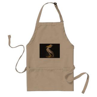 Audubon White Pelican Bird Vintage Print Apron