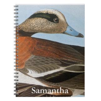 Audubon: Wigeon Spiral Notebook