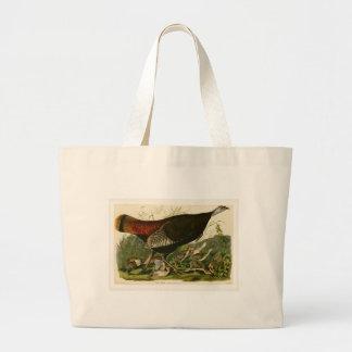 Audubon Wild Running Turkey Birds of America Large Tote Bag