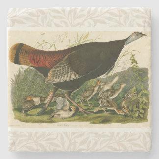 Audubon Wild Turkey Vintage Birds of America Stone Coaster