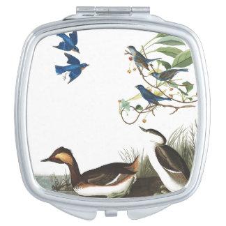 Audubons Collage Birds Wildlife Animal Compact Travel Mirror
