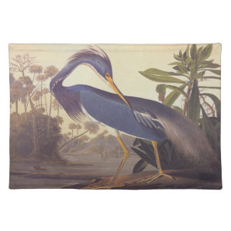 Audubon's Louisiana Heron or Tricolored Heron Placemat
