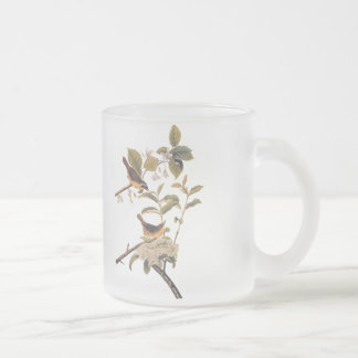 Audubon's Maryland Yellowthroat Birds with Flowers Frosted Glass Coffee Mug