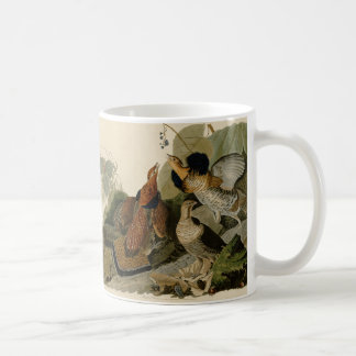 Audubon's Painting of a trio of Ruffed Grouse Coffee Mug