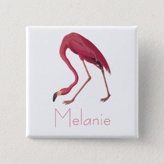 Audubon's Pink Flamingo Vintage Birds of America 15 Cm Square Badge