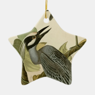 Audubon's Vintage Yellow crowned night heron paint Christmas Ornament