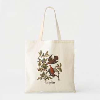 Audubon's Zenaida Dove Birds on Tree Branch Tote Bag