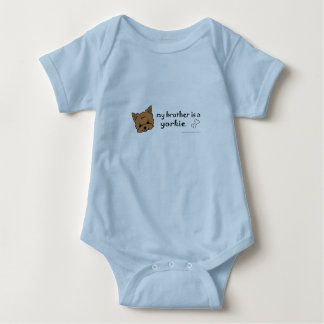 aug26 my brother is a yorkie and more dog breeds! baby bodysuit