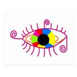auge eye bunt colorful postkarten