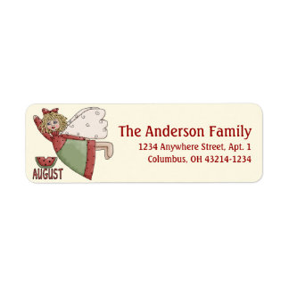 August Angel of the Month Return Address Labels