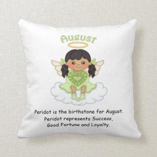 August Birthstone Angel Black Cushions