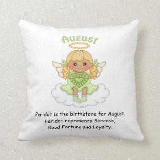 August Birthstone Angel Blonde Cushion