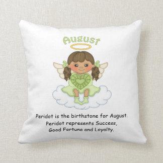 August Birthstone Angel Brunette Cushions