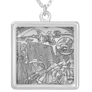 August, harvesting, Leo Silver Plated Necklace