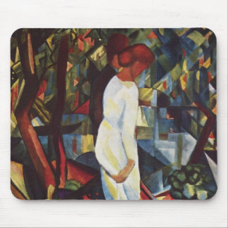 August Macke - A Couple In The Forest Mouse Mat