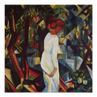 August Macke - A Couple In The Forest Poster